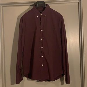 JCrew MERCANTILE Shirt - Burgundy color